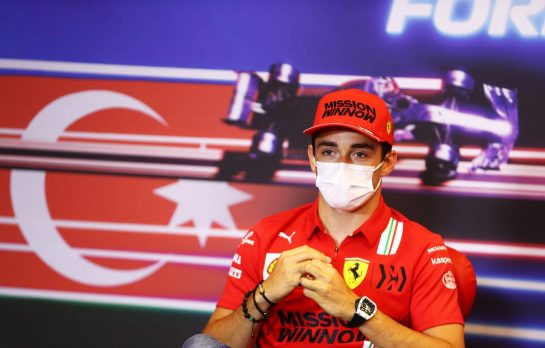 Charles Leclerc (MON) Ferrari in the FIA Press Conference. 03.06.2021. Formula 1 World Championship, Rd 6, Azerbaijan Grand Prix, Baku Street Circuit, Azerbaijan, Preparation Day. - www.xpbimages.com, EMail: requests@xpbimages.com © Copyright: FIA Pool Image for Editorial Use Only