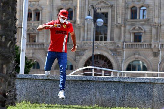 Carlos Sainz Jr (ESP) Ferrari. 03.06.2021. Formula 1 World Championship, Rd 6, Azerbaijan Grand Prix, Baku Street Circuit, Azerbaijan, Preparation Day. - www.xpbimages.com, EMail: requests@xpbimages.com © Copyright: Moy / XPB Images