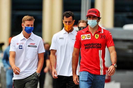 Carlos Sainz Jr (ESP) Ferrari. 04.06.2021. Formula 1 World Championship, Rd 6, Azerbaijan Grand Prix, Baku Street Circuit, Azerbaijan, Practice Day. - www.xpbimages.com, EMail: requests@xpbimages.com © Copyright: Batchelor / XPB Images