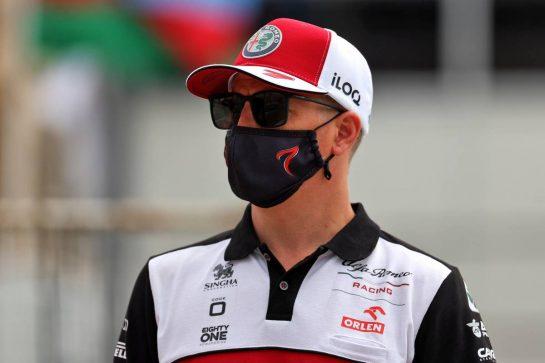 Kimi Raikkonen (FIN) Alfa Romeo Racing. 04.06.2021. Formula 1 World Championship, Rd 6, Azerbaijan Grand Prix, Baku Street Circuit, Azerbaijan, Practice Day. - www.xpbimages.com, EMail: requests@xpbimages.com © Copyright: Batchelor / XPB Images