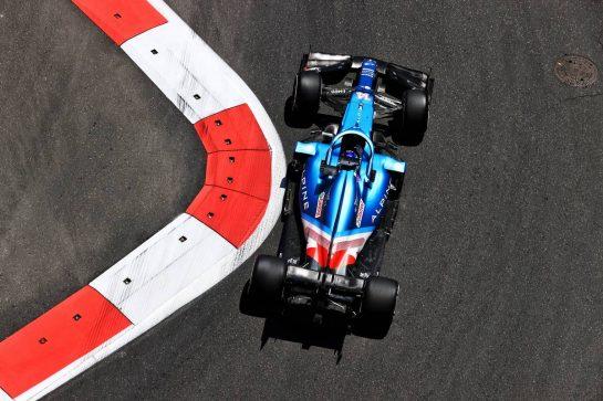 Fernando Alonso (ESP) Alpine F1 Team A521. 04.06.2021. Formula 1 World Championship, Rd 6, Azerbaijan Grand Prix, Baku Street Circuit, Azerbaijan, Practice Day. - www.xpbimages.com, EMail: requests@xpbimages.com © Copyright: Moy / XPB Images