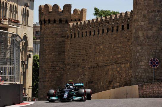 Valtteri Bottas (FIN) Mercedes AMG F1 W12. 04.06.2021. Formula 1 World Championship, Rd 6, Azerbaijan Grand Prix, Baku Street Circuit, Azerbaijan, Practice Day. - www.xpbimages.com, EMail: requests@xpbimages.com © Copyright: Batchelor / XPB Images