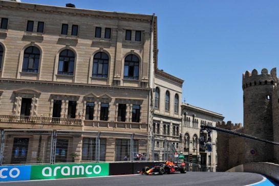 Sergio Perez (MEX) Red Bull Racing RB16B. 04.06.2021. Formula 1 World Championship, Rd 6, Azerbaijan Grand Prix, Baku Street Circuit, Azerbaijan, Practice Day. - www.xpbimages.com, EMail: requests@xpbimages.com © Copyright: Batchelor / XPB Images