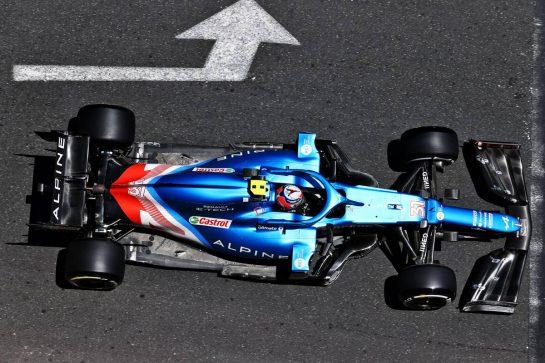 Esteban Ocon (FRA) Alpine F1 Team A521. 04.06.2021. Formula 1 World Championship, Rd 6, Azerbaijan Grand Prix, Baku Street Circuit, Azerbaijan, Practice Day. - www.xpbimages.com, EMail: requests@xpbimages.com © Copyright: Moy / XPB Images
