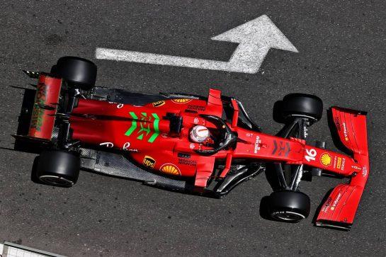 Charles Leclerc (MON) Ferrari SF-21. 04.06.2021. Formula 1 World Championship, Rd 6, Azerbaijan Grand Prix, Baku Street Circuit, Azerbaijan, Practice Day. - www.xpbimages.com, EMail: requests@xpbimages.com © Copyright: Moy / XPB Images