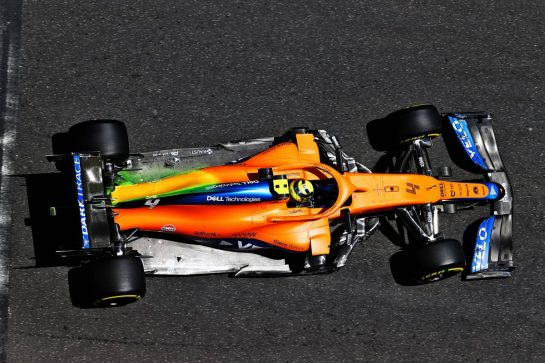Lando Norris (GBR) McLaren MCL35M. 04.06.2021. Formula 1 World Championship, Rd 6, Azerbaijan Grand Prix, Baku Street Circuit, Azerbaijan, Practice Day. - www.xpbimages.com, EMail: requests@xpbimages.com © Copyright: Moy / XPB Images