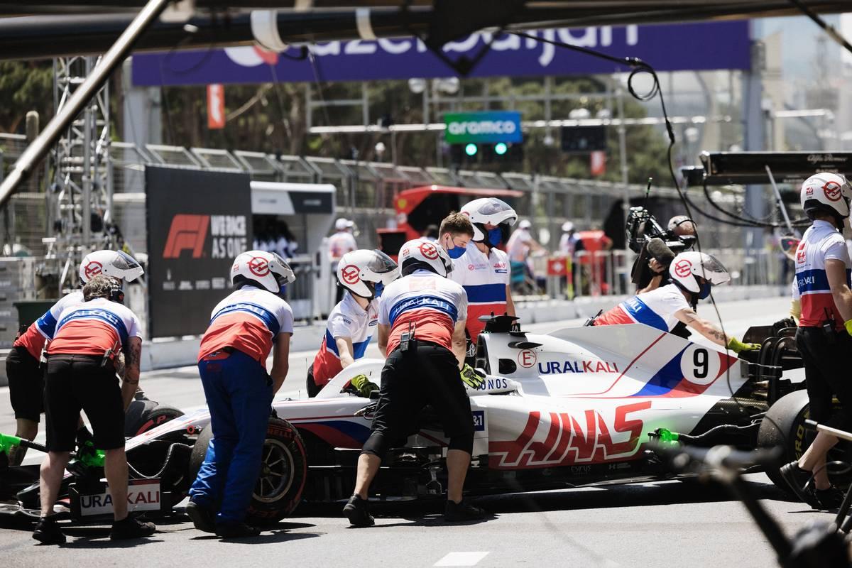 Nikita Mazepin (RUS) Haas F1 Team VF-21. 04.06.2021. Formula 1 World Championship, Rd 6, Azerbaijan Grand Prix, Baku