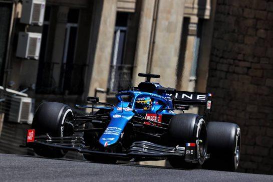 Fernando Alonso (ESP) Alpine F1 Team A521. 04.06.2021. Formula 1 World Championship, Rd 6, Azerbaijan Grand Prix, Baku Street Circuit, Azerbaijan, Practice Day. - www.xpbimages.com, EMail: requests@xpbimages.com © Copyright: Batchelor / XPB Images