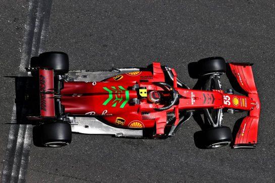 Carlos Sainz Jr (ESP) Ferrari SF-21. 04.06.2021. Formula 1 World Championship, Rd 6, Azerbaijan Grand Prix, Baku Street Circuit, Azerbaijan, Practice Day. - www.xpbimages.com, EMail: requests@xpbimages.com © Copyright: Moy / XPB Images