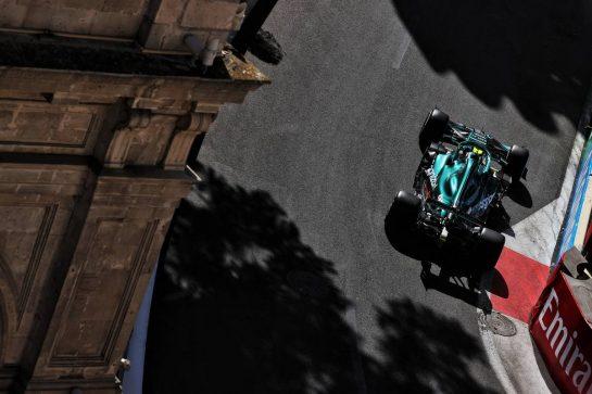 Sebastian Vettel (GER) Aston Martin F1 Team AMR21. 04.06.2021. Formula 1 World Championship, Rd 6, Azerbaijan Grand Prix, Baku Street Circuit, Azerbaijan, Practice Day. - www.xpbimages.com, EMail: requests@xpbimages.com © Copyright: Batchelor / XPB Images