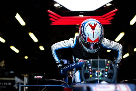 Esteban Ocon (FRA) Alpine F1 Team A521. 04.06.2021. Formula 1 World Championship, Rd 6, Azerbaijan Grand Prix, Baku Street Circuit, Azerbaijan, Practice Day. - www.xpbimages.com, EMail: requests@xpbimages.com © Copyright: Charniaux / XPB Images
