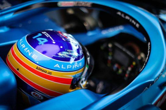 Fernando Alonso (ESP) Alpine F1 Team A521. 04.06.2021. Formula 1 World Championship, Rd 6, Azerbaijan Grand Prix, Baku Street Circuit, Azerbaijan, Practice Day. - www.xpbimages.com, EMail: requests@xpbimages.com © Copyright: Charniaux / XPB Images