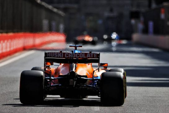 Daniel Ricciardo (AUS) McLaren MCL35M. 04.06.2021. Formula 1 World Championship, Rd 6, Azerbaijan Grand Prix, Baku Street Circuit, Azerbaijan, Practice Day. - www.xpbimages.com, EMail: requests@xpbimages.com © Copyright: Moy / XPB Images
