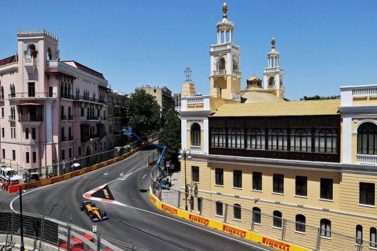 Daniel Ricciardo (AUS) McLaren MCL35M. 05.06.2021. Formula 1 World Championship, Rd 6, Azerbaijan Grand Prix, Baku Street Circuit, Azerbaijan, Qualifying Day. - www.xpbimages.com, EMail: requests@xpbimages.com © Copyright: Batchelor / XPB Images