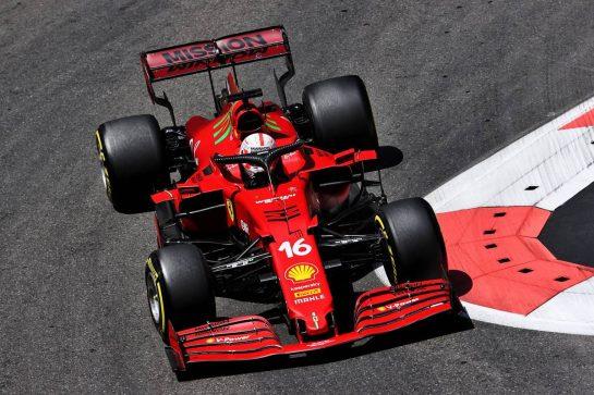 Charles Leclerc (MON) Ferrari SF-21. 05.06.2021. Formula 1 World Championship, Rd 6, Azerbaijan Grand Prix, Baku Street Circuit, Azerbaijan, Qualifying Day. - www.xpbimages.com, EMail: requests@xpbimages.com © Copyright: Batchelor / XPB Images