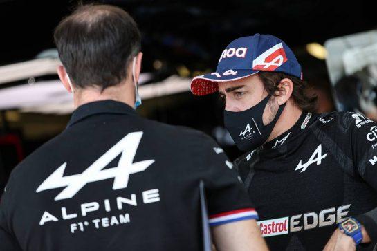 Fernando Alonso (ESP) Alpine F1 Team. 05.06.2021. Formula 1 World Championship, Rd 6, Azerbaijan Grand Prix, Baku Street Circuit, Azerbaijan, Qualifying Day. - www.xpbimages.com, EMail: requests@xpbimages.com © Copyright: Charniaux / XPB Images