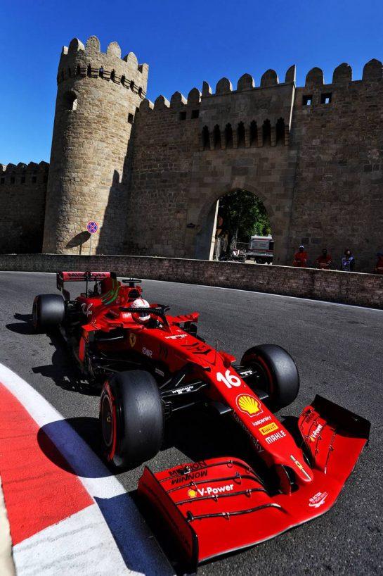 Charles Leclerc (MON) Ferrari SF-21. 05.06.2021. Formula 1 World Championship, Rd 6, Azerbaijan Grand Prix, Baku Street Circuit, Azerbaijan, Qualifying Day. - www.xpbimages.com, EMail: requests@xpbimages.com © Copyright: Moy / XPB Images