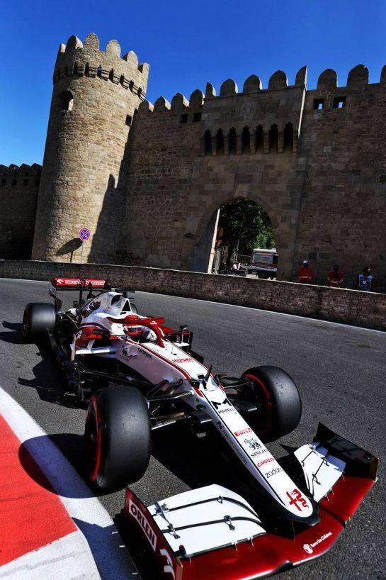 Kimi Raikkonen (FIN) Alfa Romeo Racing C41. 05.06.2021. Formula 1 World Championship, Rd 6, Azerbaijan Grand Prix, Baku Street Circuit, Azerbaijan, Qualifying Day. - www.xpbimages.com, EMail: requests@xpbimages.com © Copyright: Moy / XPB Images