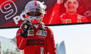 Leclerc wins pole, Hamilton on front row as red flags fly