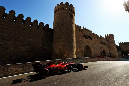 Carlos Sainz Jr (ESP) Ferrari SF-21. 05.06.2021. Formula 1 World Championship, Rd 6, Azerbaijan Grand Prix, Baku Street Circuit, Azerbaijan, Qualifying Day. - www.xpbimages.com, EMail: requests@xpbimages.com © Copyright: Moy / XPB Images