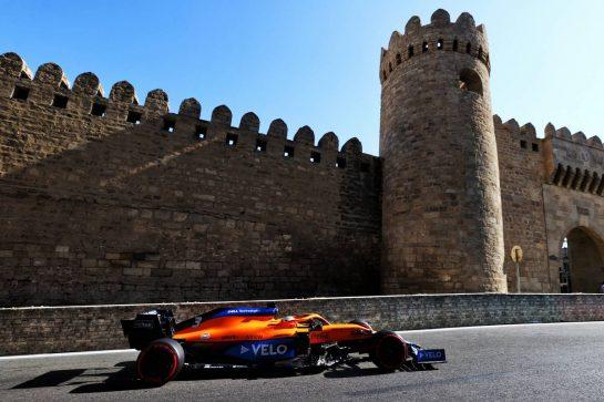 Daniel Ricciardo (AUS) McLaren MCL35M. 05.06.2021. Formula 1 World Championship, Rd 6, Azerbaijan Grand Prix, Baku Street Circuit, Azerbaijan, Qualifying Day. - www.xpbimages.com, EMail: requests@xpbimages.com © Copyright: Moy / XPB Images