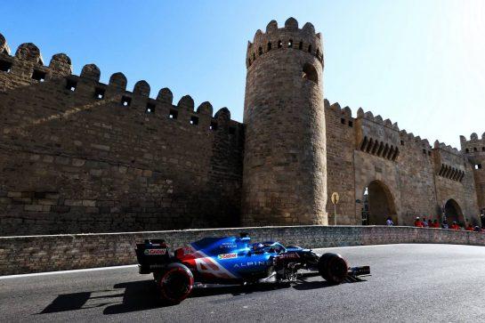 Fernando Alonso (ESP) Alpine F1 Team A521. 05.06.2021. Formula 1 World Championship, Rd 6, Azerbaijan Grand Prix, Baku Street Circuit, Azerbaijan, Qualifying Day. - www.xpbimages.com, EMail: requests@xpbimages.com © Copyright: Moy / XPB Images