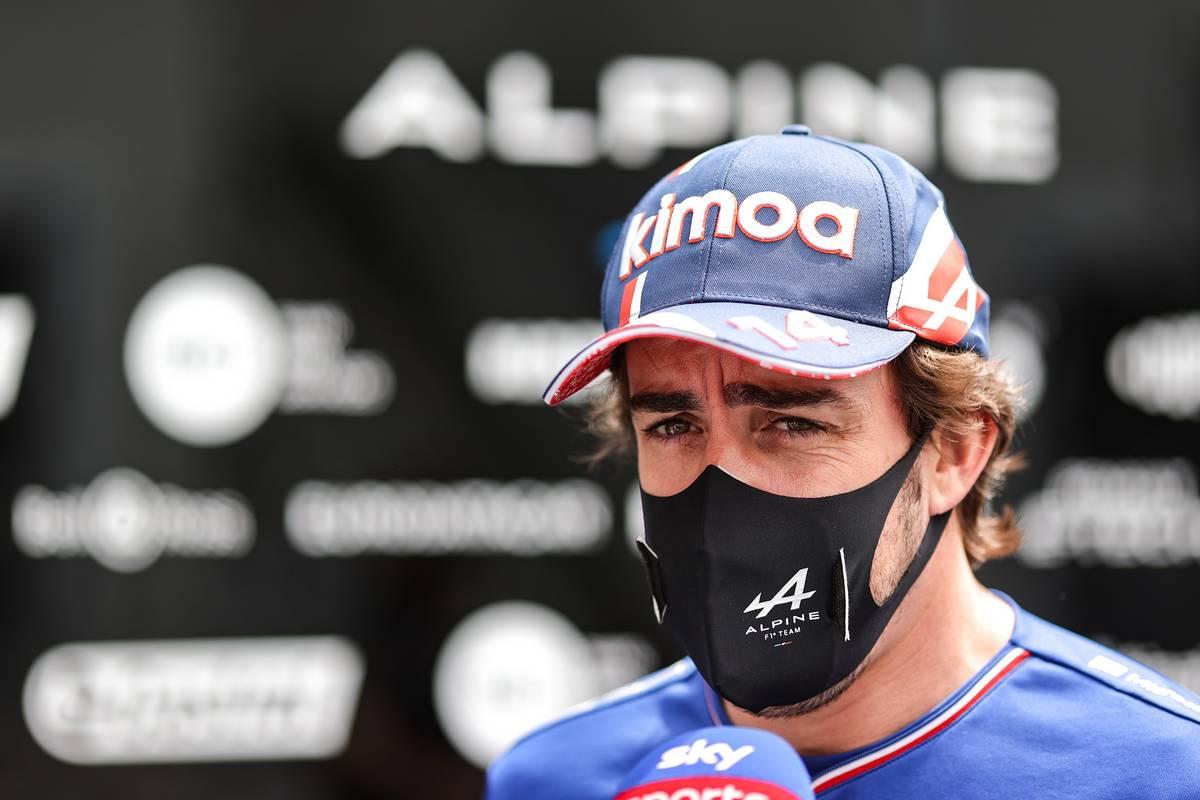 Fernando Alonso (ESP) Alpine F1 Team with the media. 06.06.2021. Formula 1 World Championship, Rd 6, Azerbaijan Grand Prix, Baku