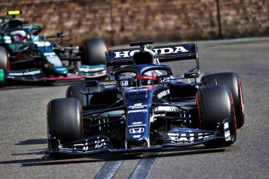 Yuki Tsunoda (JPN) AlphaTauri AT02. 06.06.2021. Formula 1 World Championship, Rd 6, Azerbaijan Grand Prix, Baku Street Circuit, Azerbaijan, Race Day. - www.xpbimages.com, EMail: requests@xpbimages.com © Copyright: Moy / XPB Images
