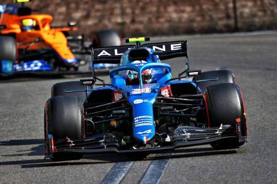 Esteban Ocon (FRA) Alpine F1 Team A521. 06.06.2021. Formula 1 World Championship, Rd 6, Azerbaijan Grand Prix, Baku Street Circuit, Azerbaijan, Race Day. - www.xpbimages.com, EMail: requests@xpbimages.com © Copyright: Moy / XPB Images