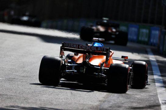 Daniel Ricciardo (AUS) McLaren MCL35M. 06.06.2021. Formula 1 World Championship, Rd 6, Azerbaijan Grand Prix, Baku Street Circuit, Azerbaijan, Race Day. - www.xpbimages.com, EMail: requests@xpbimages.com © Copyright: Moy / XPB Images