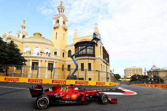 Charles Leclerc (MON) Ferrari SF-21. 06.06.2021. Formula 1 World Championship, Rd 6, Azerbaijan Grand Prix, Baku Street Circuit, Azerbaijan, Race Day. - www.xpbimages.com, EMail: requests@xpbimages.com © Copyright: Moy / XPB Images
