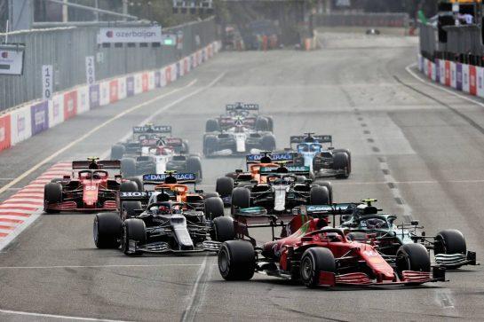 Charles Leclerc (MON) Ferrari SF-21. 06.06.2021. Formula 1 World Championship, Rd 6, Azerbaijan Grand Prix, Baku Street Circuit, Azerbaijan, Race Day. - www.xpbimages.com, EMail: requests@xpbimages.com © Copyright: Batchelor / XPB Images