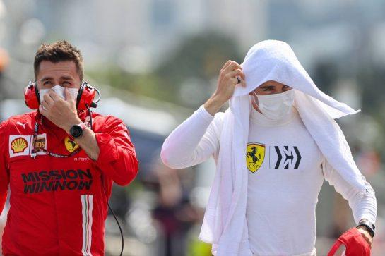 Charles Leclerc (MON) Ferrari on the grid. 06.06.2021. Formula 1 World Championship, Rd 6, Azerbaijan Grand Prix, Baku Street Circuit, Azerbaijan, Race Day. - www.xpbimages.com, EMail: requests@xpbimages.com © Copyright: Charniaux / XPB Images