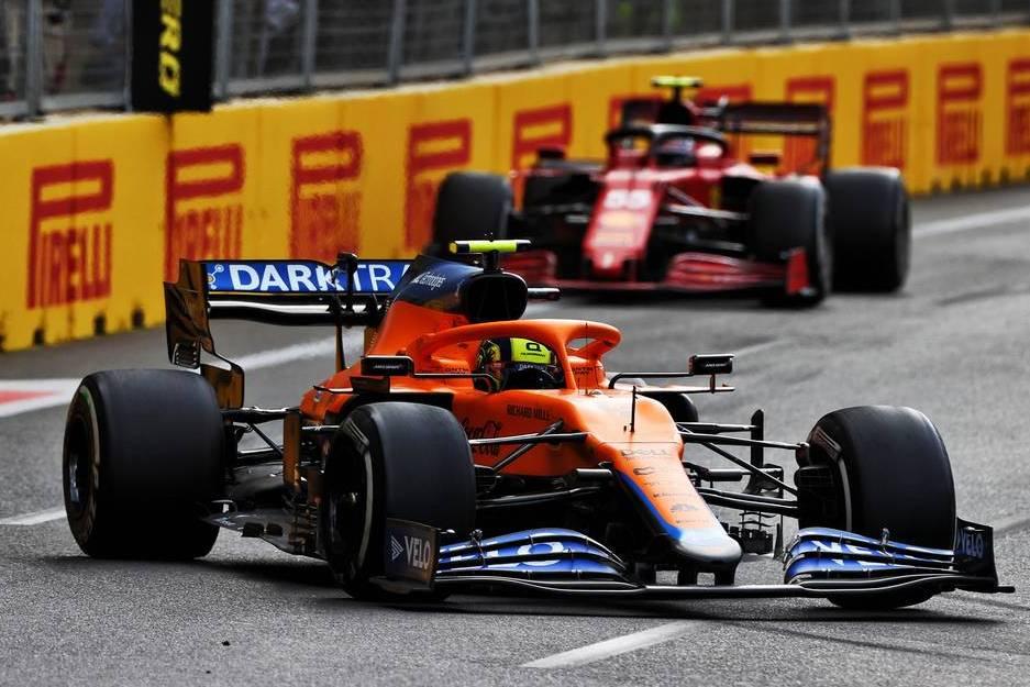Norris: Ferrari's mistakes helping McLaren's cause