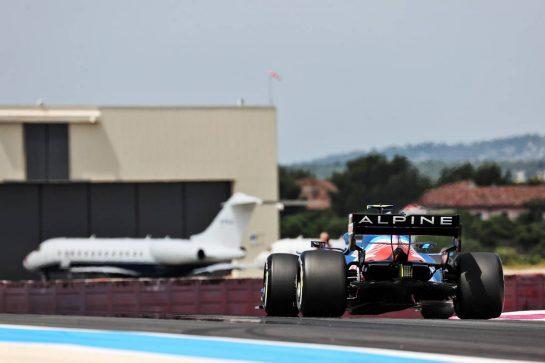 Esteban Ocon (FRA) Alpine F1 Team A521. 18.06.2021. Formula 1 World Championship, Rd 7, French Grand Prix, Paul Ricard, France, Practice Day. - www.xpbimages.com, EMail: requests@xpbimages.com © Copyright: Batchelor / XPB Images