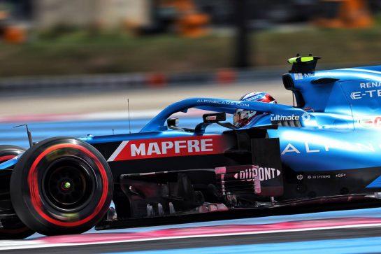 Esteban Ocon (FRA) Alpine F1 Team A521. 18.06.2021. Formula 1 World Championship, Rd 7, French Grand Prix, Paul Ricard, France, Practice Day. - www.xpbimages.com, EMail: requests@xpbimages.com © Copyright: Charniaux / XPB Images