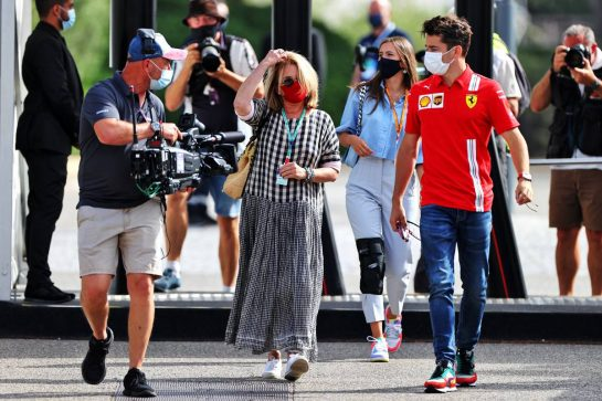 Charles Leclerc (MON) Ferrari with his mother Pascale Leclerc. 19.06.2021. Formula 1 World Championship, Rd 7, French Grand Prix, Paul Ricard, France, Qualifying Day. - www.xpbimages.com, EMail: requests@xpbimages.com © Copyright: Moy / XPB Images