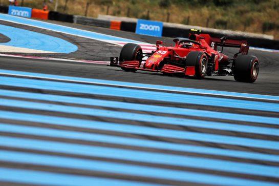 Carlos Sainz Jr (ESP) Ferrari SF-21. 19.06.2021. Formula 1 World Championship, Rd 7, French Grand Prix, Paul Ricard, France, Qualifying Day. - www.xpbimages.com, EMail: requests@xpbimages.com © Copyright: Batchelor / XPB Images