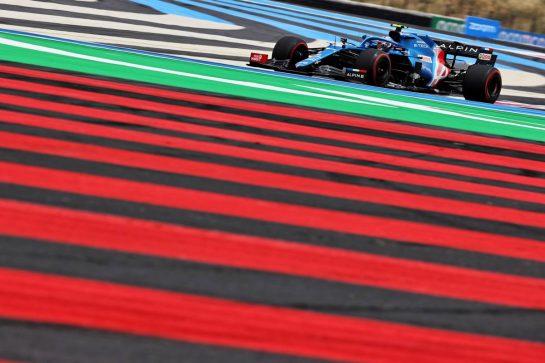Esteban Ocon (FRA) Alpine F1 Team A521. 19.06.2021. Formula 1 World Championship, Rd 7, French Grand Prix, Paul Ricard, France, Qualifying Day. - www.xpbimages.com, EMail: requests@xpbimages.com © Copyright: Batchelor / XPB Images