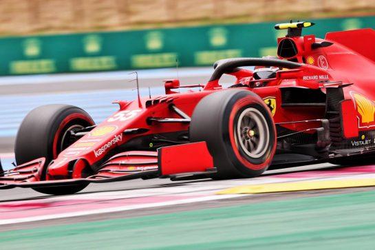 Carlos Sainz Jr (ESP) Ferrari SF-21. 19.06.2021. Formula 1 World Championship, Rd 7, French Grand Prix, Paul Ricard, France, Qualifying Day. - www.xpbimages.com, EMail: requests@xpbimages.com © Copyright: Charniaux / XPB Images