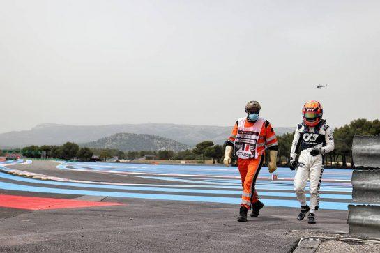 Yuki Tsunoda (JPN) AlphaTauri crashed out of qualifying. 19.06.2021. Formula 1 World Championship, Rd 7, French Grand Prix, Paul Ricard, France, Qualifying Day. - www.xpbimages.com, EMail: requests@xpbimages.com © Copyright: Charniaux / XPB Images