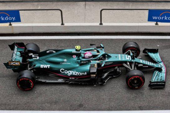 Sebastian Vettel (GER) Aston Martin F1 Team AMR21. 19.06.2021. Formula 1 World Championship, Rd 7, French Grand Prix, Paul Ricard, France, Qualifying Day. - www.xpbimages.com, EMail: requests@xpbimages.com © Copyright: Batchelor / XPB Images