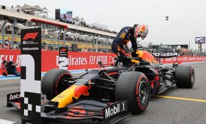 Verstappen 'super happy' with pole in Mercedes stronghold