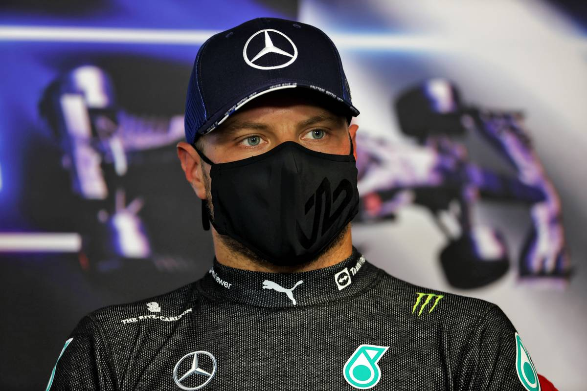 Valtteri Bottas (FIN) Mercedes AMG F1 in the post qualifying FIA Press Conference. 19.06.2021. Formula 1 World Championship, Rd 7, French Grand Prix, Paul Ricard