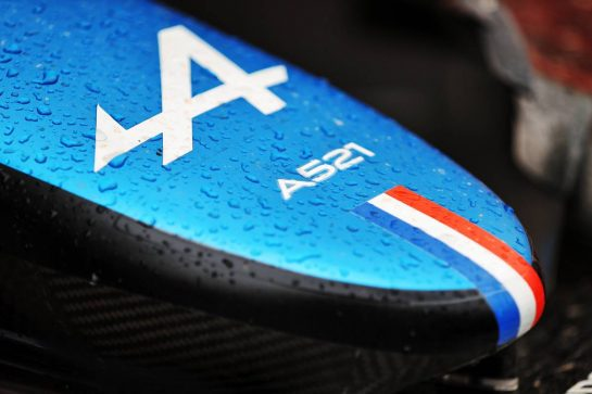 Alpine F1 Team A521 nosecone. 20.06.2021. Formula 1 World Championship, Rd 7, French Grand Prix, Paul Ricard, France, Race Day. - www.xpbimages.com, EMail: requests@xpbimages.com © Copyright: Moy / XPB Images