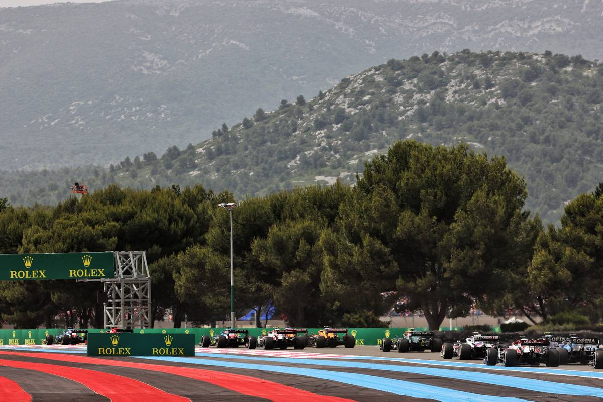 The start of the race. 20.06.2021. Formula 1 World Championship, Rd 7, French Grand Prix, Paul Ricard