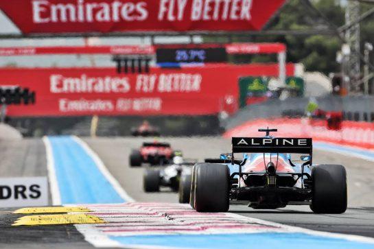 Fernando Alonso (ESP) Alpine F1 Team A521. 20.06.2021. Formula 1 World Championship, Rd 7, French Grand Prix, Paul Ricard, France, Race Day. - www.xpbimages.com, EMail: requests@xpbimages.com © Copyright: Charniaux / XPB Images