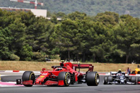 Carlos Sainz Jr (ESP) Ferrari SF-21. 20.06.2021. Formula 1 World Championship, Rd 7, French Grand Prix, Paul Ricard, France, Race Day. - www.xpbimages.com, EMail: requests@xpbimages.com © Copyright: Batchelor / XPB Images