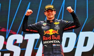 Race winner Max Verstappen (NLD) Red Bull Racing celebrates on the podium. 20.06.2021. Formula 1 World Championship, Rd 7, French Grand Prix, Paul Ricard