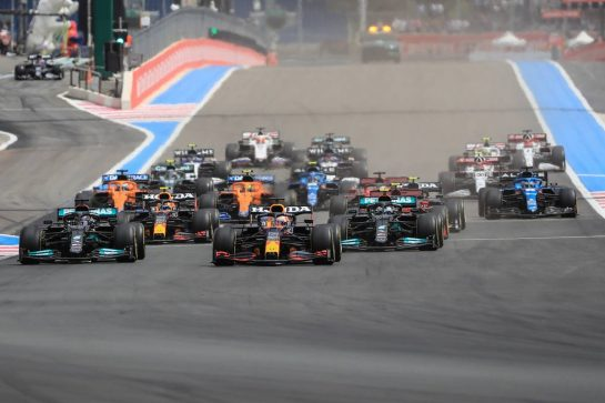 Start of the race20.06.2021. Formula 1 World Championship, Rd 7, French Grand Prix, Paul Ricard, France, Race Day.- www.xpbimages.com, EMail: requests@xpbimages.com © Copyright: XPB Images